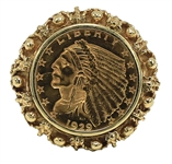 Elvis Presley Owned & Worn 14kt Gold Indian Head Ring