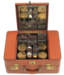 Paul McCartneys Beatles Leather Train (Travel) Case from Brian Epstein Used Extensively on Tour with Pauls Initials