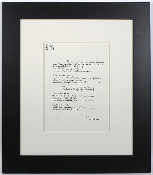 "John Lennon Original ""Borrowed Time"" The Solo Years Limited Edition Silkscreen Print"