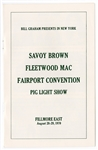 Fleetwood Mac Original 1970 Fillmore East Concert Program
