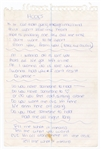"Britney Spears Handwritten ""Hook"" Lyrics"