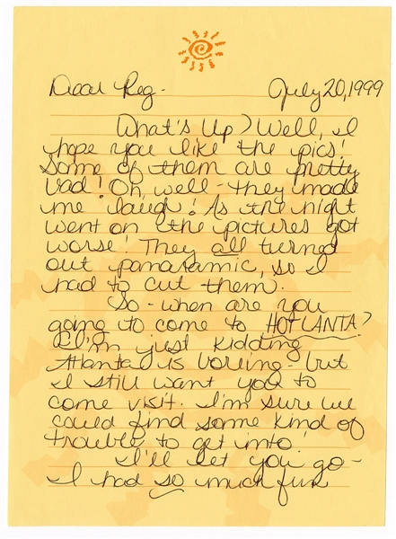 Britney Spears Handwritten & Signed Letter To Ex-Boyfriend Reg Jones