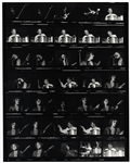 Cream Original Jim Marshall Signed & Stamped Contact Sheet