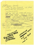 "Michael Jackson ""Man In The Mirror"" Siedah Garrett Handwritten Working Lyrics"