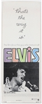 "Elvis Presley Original ""Thats The Way It Is"" US Movie Insert Poster"
