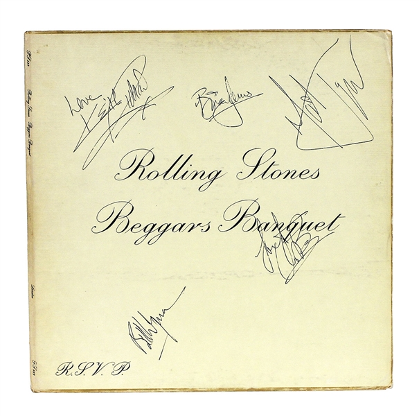 "Rolling Stones Signed ""Beggars Banquet"" Album with Brian Jones"