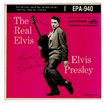 "Elvis Presley Signed ""The Real Elvis Presley"" 45 Record"