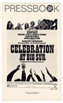 Celebration at Big Sur Original Press Book Featuring Joni Mitchell, Joan Baez,  CSNY and More