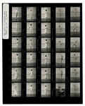 Madonna Original Earliest Known Nude Cecil Taylor Stamped Contact Sheet