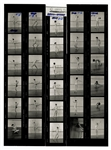 Madonna Original Earliest Known Nude Cecil Taylor Stamped Contact Sheets