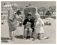 "Marilyn Monroe, Tony Curtis and Jack Lemmon  ""Some Like It Hot"" Original 11 x 14 Movie Set Photograph"