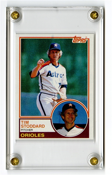 1983 Topps Unpublished Proof Card of Tim Stoddard Picturing Don Sutton
