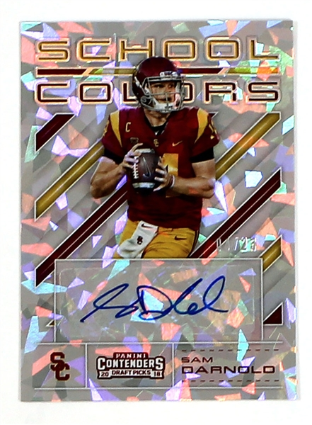 2018 Panini Contenders Draft Picks School Colors Signed Card (#'d/ 23)