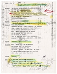 "Stevie Nicks Hand-Annotated ""Edge of Seventeen"" and  ""Freedom"" Lyrics with Copy of ""Desert Angel"" Annotated Lyrics"