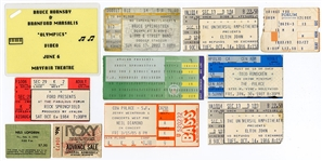 Concert Ticket Archive Featuring Bruce Springsteen, Elton John, Neil Diamond and More