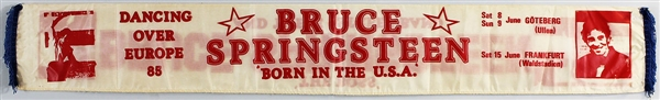 "Bruce Springsteen and the E Street Band ""Born In The U.S.A."" 1985 European Tour Scarf"