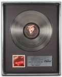 "Bob Seger and The Silver Bullet Band ""Nine Tonight"" Original Capitol Records Platinum LP Record Album Award"