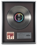 "The Knack ""Get The Knack"" Original Capitol Records Platinum LP Record Album Award"