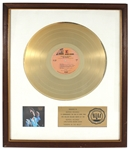 "Jimi Hendrix ""Hendrix in the West"" Original RIAA White Matte Gold LP Record Album Award"