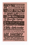 Eric Clapton, Little Stevie Wonder, Jimmy Cliff and More Original 1966 Concert Handbill