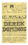 Eric Clapton Derek and the Dominos Original 1970 Marquay Club Concert Handbill