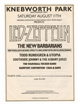 Led Zeppelin, New Barbarians (Rolling Stones Keith Richards and Ron Wood) Original 1979 Knebworth Park Festival Concert Handbill (August 11)