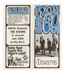The Doors Original 1968 Hawaiian Concert Handbill