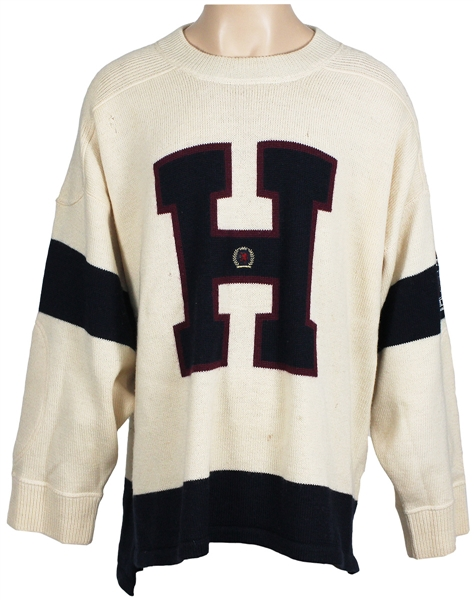 "Michael Jacksons Personally Owned & Worn  Limited Edition Vintage Tommy Hilfiger Sweater Worn in ""Vibe Magazine"""