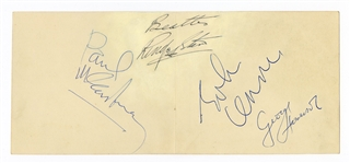 Beatles Set of Autographs Circa 1963 with Frank Caiazzo LOA