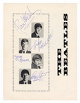 Beatles Signed Original 1963 Beatles and Roy Orbison U.K. Concert Tour Program with Frank Caiazzo LOA.