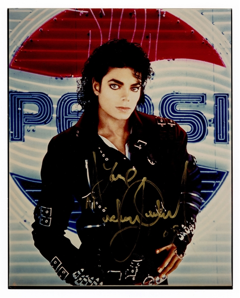 Michael Jackson Signed Pepsi Photograph