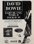 David Bowie 1997 Earthling World Tour Mexican Concert Poster
