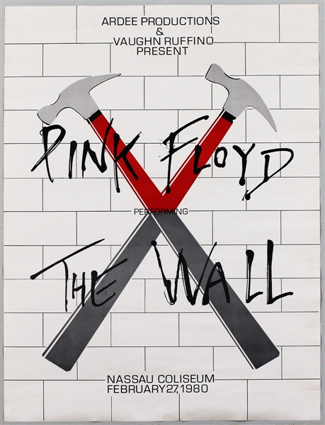 "Pink Floyd ""The Wall"" Original 1980 Concert Poster"