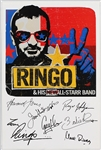 "Ringo Starr ""Ringo and His New All-Star Band"" Original Concert Poster Facsimile Signed"