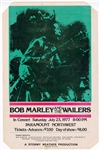 Bob Marley and The Wailers Original 1977 Paramount Northwest Concert Poster