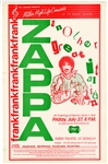 Frank Zappa Original Greek Theatre UC Berkeley Concert Poster