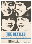 Beatles 1965 Parlophone Swedish Record Catalog Flyer