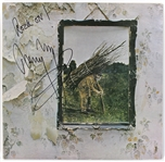 "Jimmy Page Signed ""Led Zeppelin IV"" Album Cover"