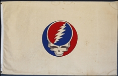 Grateful Dead Original Owsley Stanley Stage Jand-Made Flag from the 1969 Woodstock Music Festival
