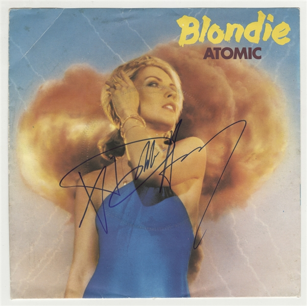 "Blondie Debbie Harry Signed ""Atomic"" 45 Record Sleeve"