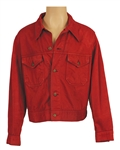 "Elvis Presley ""Stay Away Joe"" Film Production Worn Red Wine Denim Jacket"