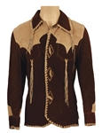 Elvis Presley Owned & Worn Suzy Cream Cheese Two-Tone Brown Suede Fringed Jacket