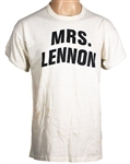 "John Lennons Personally Owned ""Mrs. Lennon"" T-Shirt"
