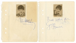 Beatles Signed Autograph Book Pages (2 Pages Back-to-Back) Authenticated by Frank Caiazzo