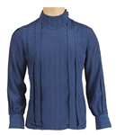 Prince Stage Worn Versace Classic Blue Silk Long-Sleeved Shirt