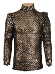 Prince Stage Worn and Personally Owned Elaborate Black and Gold Sequin Top