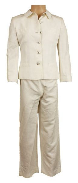 Prince Stage Worn and Personally Owned White Two-Piece Suit