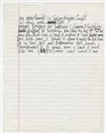 Tupac Shakur Unreleased Verse of Handwritten Lyrics