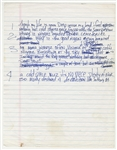 Tupac Shakur Unreleased Verse Handwritten Lyrics