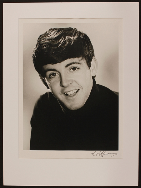 Paul McCartney Original Vintage Dezo Hoffman Signed 16 x 20 Photograph